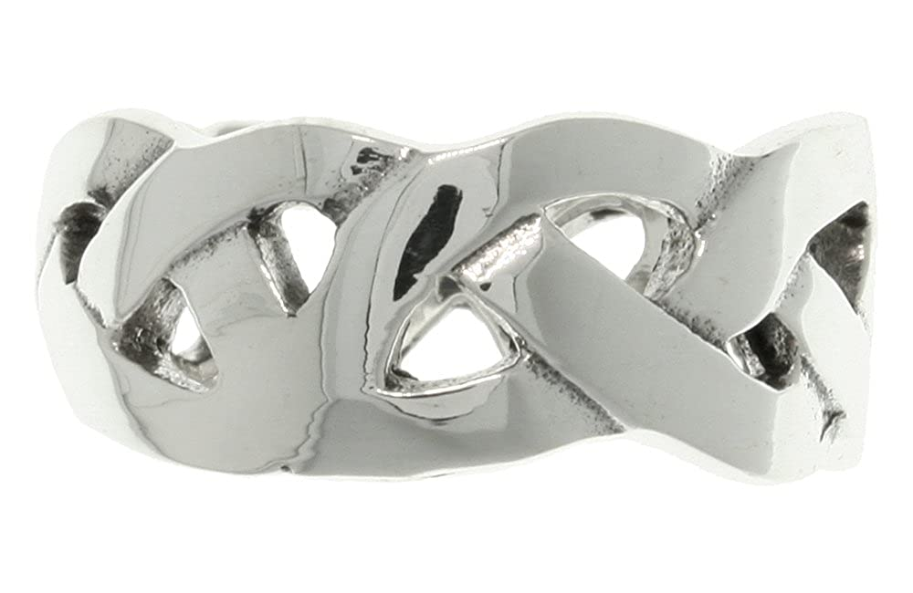 Jewelry Trends Sterling Silver Celtic Weave Knot Band Ring Whole Sizes 6-14