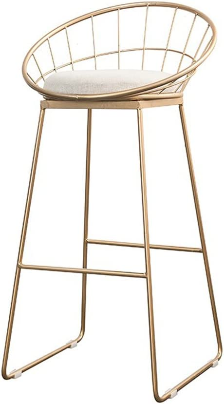 Liu Ruoxi Furniture Round Seat Bar Stool Counter Height Metal Chairs Chairs For Cafe Bar Restaurant Kitchen Gold Amazon Co Uk Kitchen Home