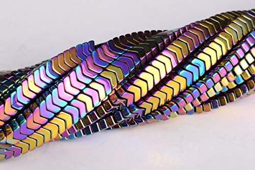 OutletBestSelling Bracelet Art Crafts 4x2MM Rainbow Hematite Arrow Grade AAA Natural Gemstone Loose Beads 15.5