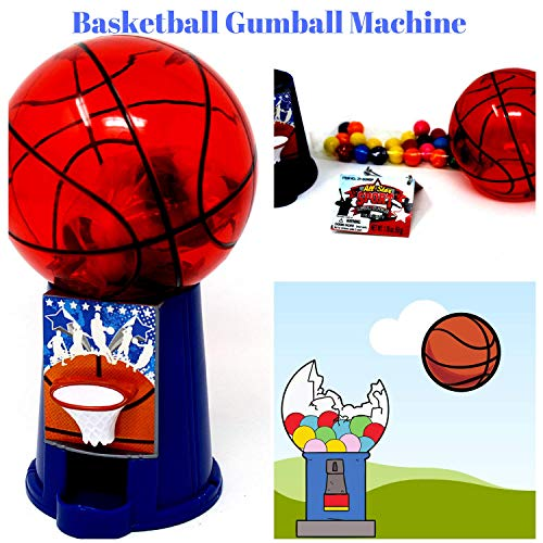 Sports Ball Theme Gumball Machine Dispenser with Gumballs Included -