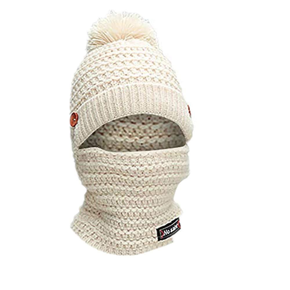 XMoments Erwachsene frauen m/änner winter ohrensch/ützer strickm/ütze schal hairball warm cap m/ütze loopschal m/ützenset und schalset Warm und bequem schlicht und retro