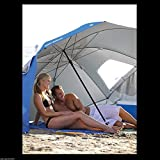 Blue Umbrella Sun Weather Canopy Shelter Beach Camping Team Sport...
