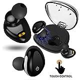 True Wireless Earbuds Touch Control,SHUUA Bluetooth V4.2 Headset with Mic Charging Case Waterproof Sweatproof Mini Twins Earphones Dual In-Ear Earpiece for iPhone X 8 7 Plus IOS