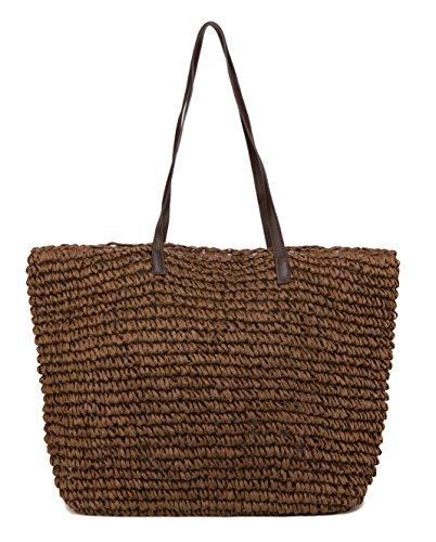ILISHOP Hot Sale Women's Classic Straw Summer Beach Sea Shoulder Bag Handbag Tote ()