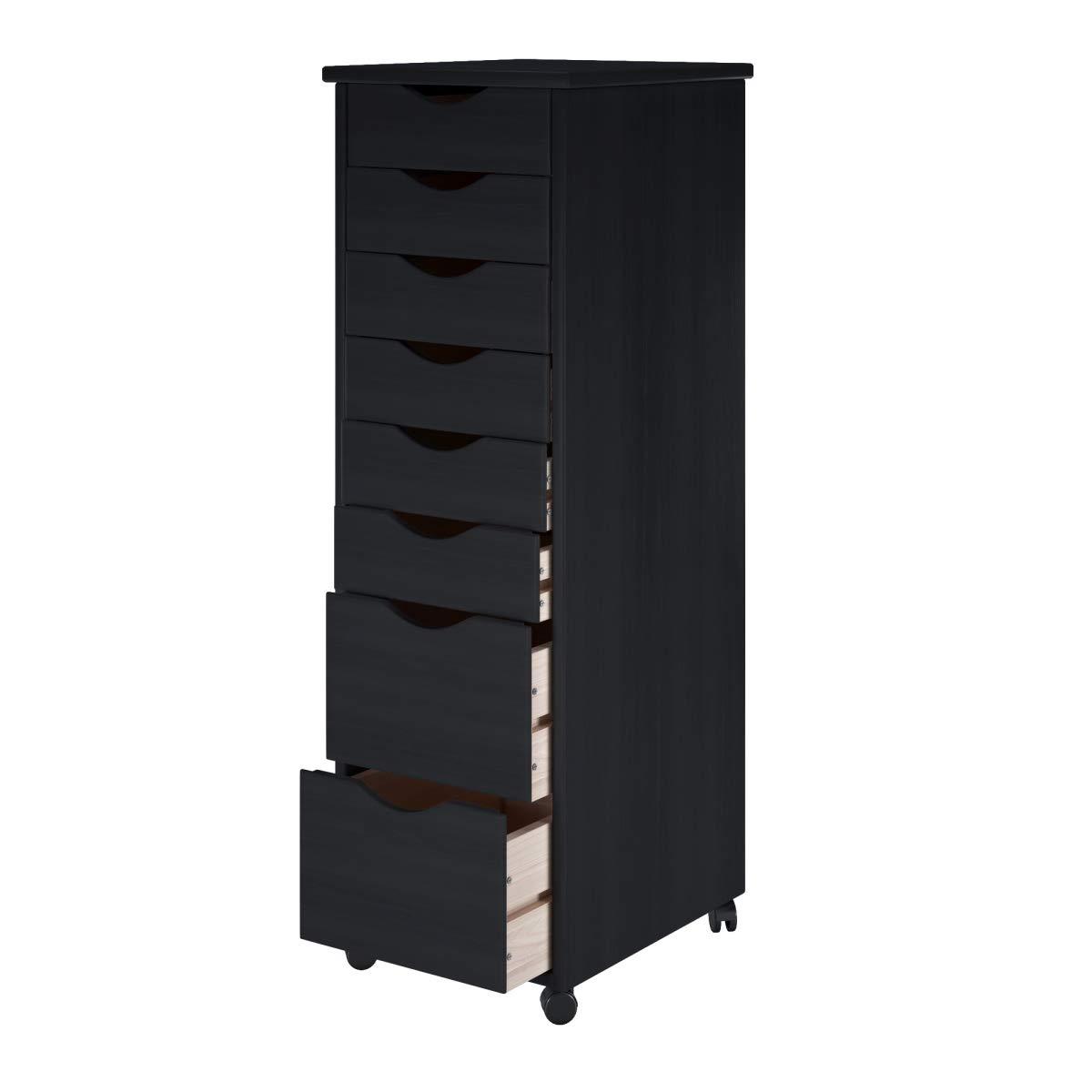 Adeptus USA 76171 8 x 11 in. 6 Plus 2 Drawer Roll Cart44; Black by Adeptus USA
