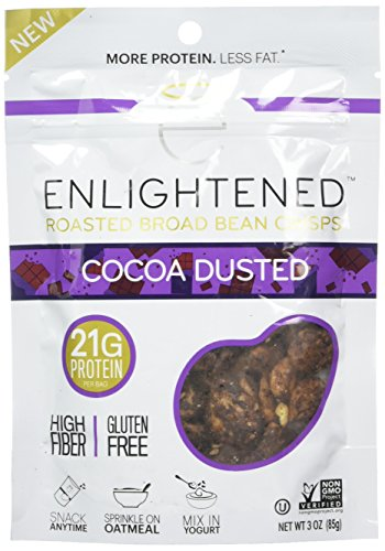Enlightened Roasted Broad Bean Crisps Cocoa Dusted 3 oz