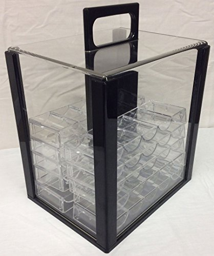 1000 Poker Chips Carrier Caddy WITH 10 Chip Racks by Spinettis