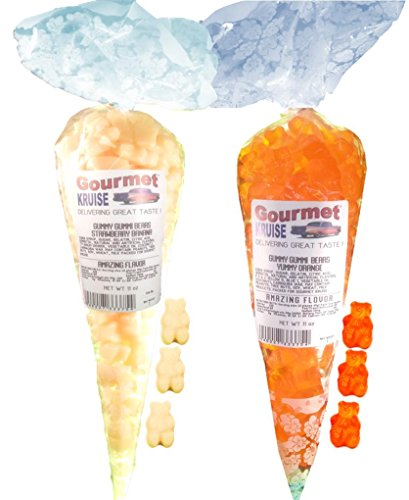 White Strawberry Banana And Energy Orange Gummy Gummi Bears (NET WT 22 OZ) Gourmet Kruise Signature Gift Bags