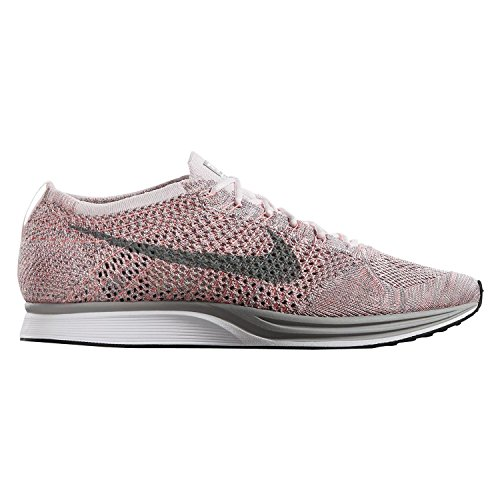 NIKE Mens Flyknit Racer Pearl Pink/Grey 526628-604