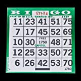 1 on Pushout Bingo Paper Cards - Green - 250 cards