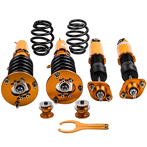 Adjustable Coilovers for BMW 3 Series E46 316 318 320 323 325 328 330 M3 Shock Suspension Struts Coil Over Gold Bmw 328 Series Shocks