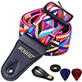 Guitar Strap Electric Guitar Straps & Bass Strap Adjustable Soft Polyester Cotton With Jacquard Pattern Guitar Strap Accessories (Guitar Strap -Rainbow)
