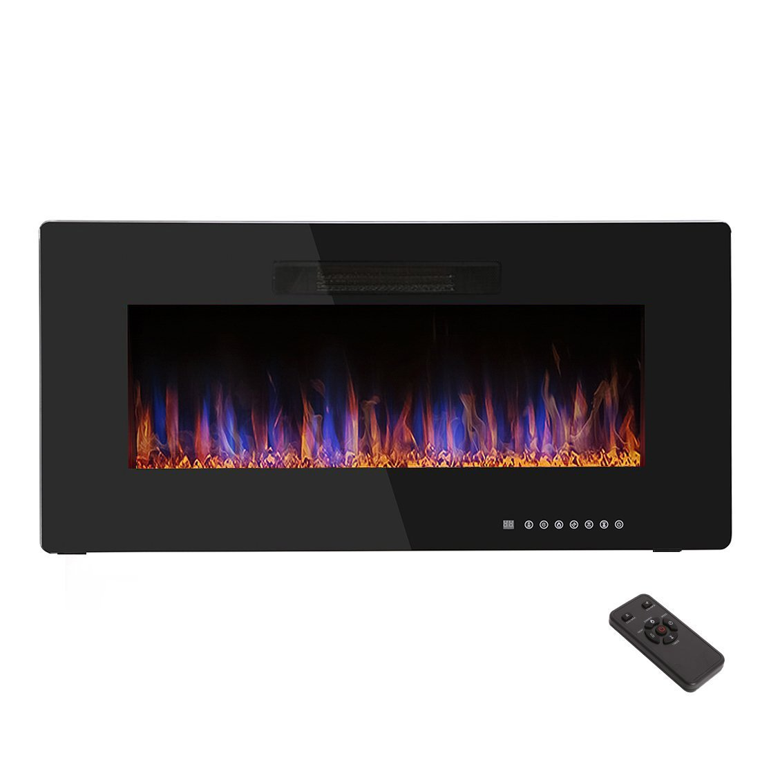 R W Flame 36 Recessed Electric Fireplace Heater Wall Mounted In