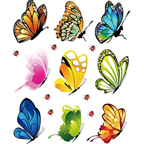 Hatop Creative Landscaping Decoration Heart Shaped Stickers Butterfly Stickers