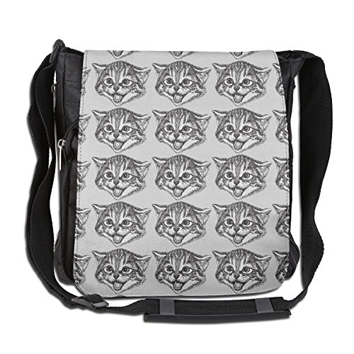 Happy Cat Face Crossbody Painting Casual Gym Travel Shoulder Bag 26 X 30 X 16 - For Best Eyeglasses My Face