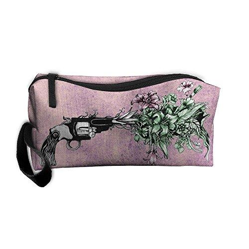 Unisex Handbags Gun Grew A Bright Beautiful Flowers Storae Bags Pencil Cases