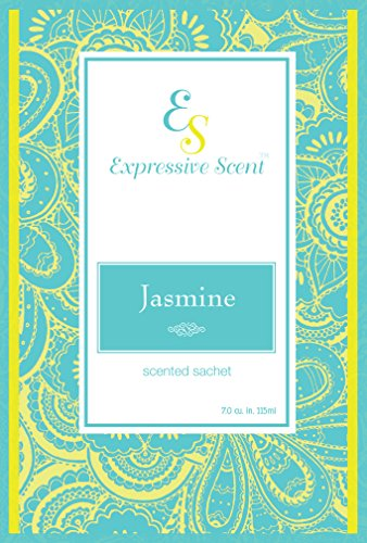 6 Pack Jasmine Large Scented Sachet Envelope By Expressive Scent by Expressive Scent