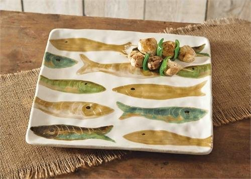 Green Fish Platter - Lake Square Fish Platter
