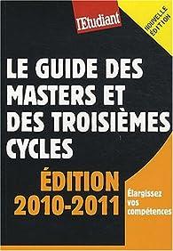 Le guide des masters et des troisièmes cycles par Yaël Didi