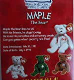 Maple Canadian Bear - McDonald's Ty Teenie Beanie MIP - 1999