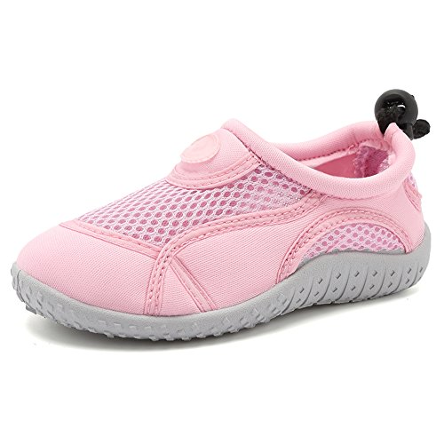 CIOR Toddler Water Shoes Aqua Shoe Swimming Pool Beach Sports Quick Drying Athletic Shoes for Girls and Boys U119STHSX,Classic.lightpink,36