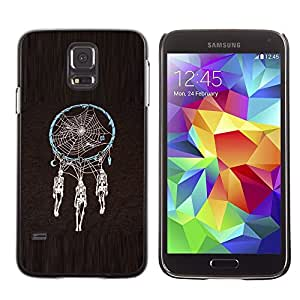 LECELL--Funda protectora / Cubierta / Piel For Samsung Galaxy S5 SM-G900 -- Dream Catcher Skeleton Black Spider --