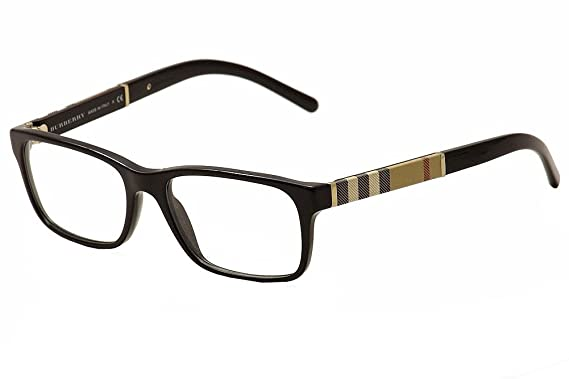 7b1e72e4e7 Amazon.com  Burberry Men s BE2162 Eyeglasses Black 53mm  Clothing