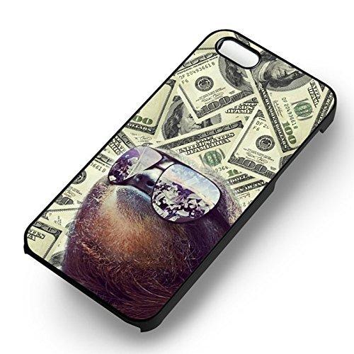Chic Sloth Gangster Coque Iphone 7 Case (Noir Boîtier en plastique dur) F5B6JR