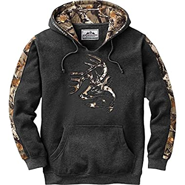 Legendary Whitetails Mens Outfitter Hoodie Charcoal Heather X-Large