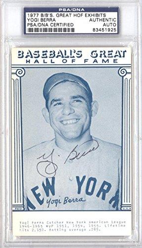 Yogi Berra Autographed 1977 Baseball's Great Exhibits Postcard #83451925 - PSA/DNA Certified - MLB Cut Signatures