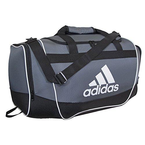 adidas Defender II Duffel Bag (Small), Onix, 11.75 x 20.5 x 11-Inch