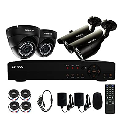 SANSCO Smart CCTV Security Camera System 2 Bullet 2 Dome from SANSCO