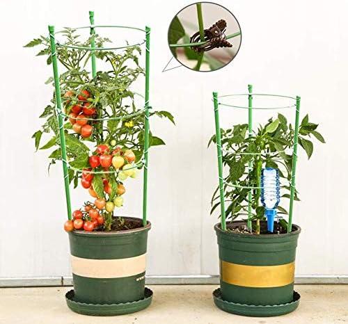 eginvic Pflanzenstützkäfige 17,7 Zoll Pflanzentopf Kletterpflanze Garten-Tomatengitter-Kits Pflanzzubehör (4 Stück)