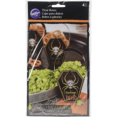 Wilton 1912-0452 Deadly Soiree Coffin Treat Bag, (Easy Halloween Popcorn Treats)