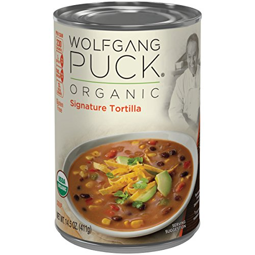Wolfgang Puck Organic Signature Tortilla Soup, 14.5 Ounce (Packaging May Vary) (Wolfgang Puck Soup Organic)