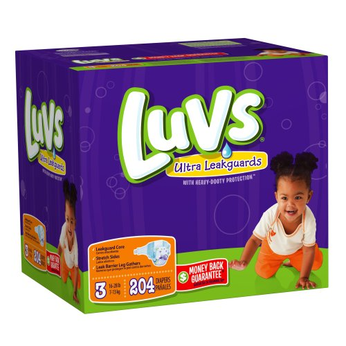 Amazon.com: Luvs With Ultra Leakguards Size 3 Diapers 204 Count ...