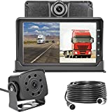 Dash Cam Front and Rear,Homder 7'' Monitor Front Lens with G-Sensor/Loop Recording/Motion Detection,IP69 Night Vision Rear View Camera Reversing Backup Camera for Trucks,Bus,Van,RV,Trailer