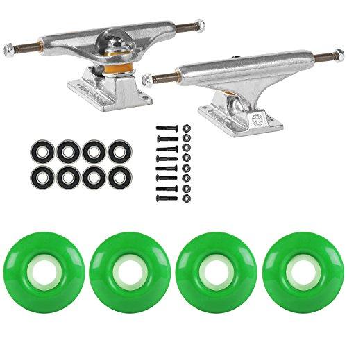 レイアウト非互換独裁スケートボードパッケージIndependent 139 Trucks 53 MmケリーグリーンABEC 7 Bearings