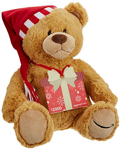 Amazon.com $2000 Gift Card with GUND Holiday 2017 Teddy Bear - Limited Edition ()
