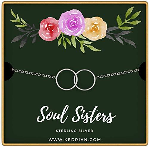 KEDRIAN Soul Sisters Bracelet, 925 Sterling Silver, Friendship Bracelet, Best Friend Bracelet, for Women, Friendship Gifts for Women (Soul Sisters - -