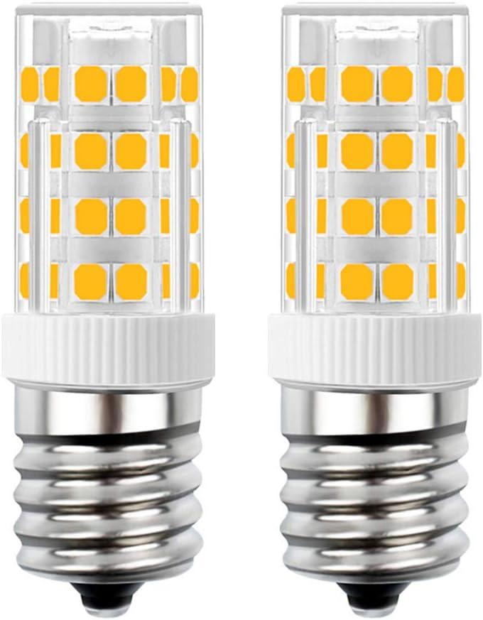 SumVibe E17 LED Bulb Under Microwave Oven Appliance Bulb 110V-130V 4W Warm White 3000K Non-Dimmable 2-Pack