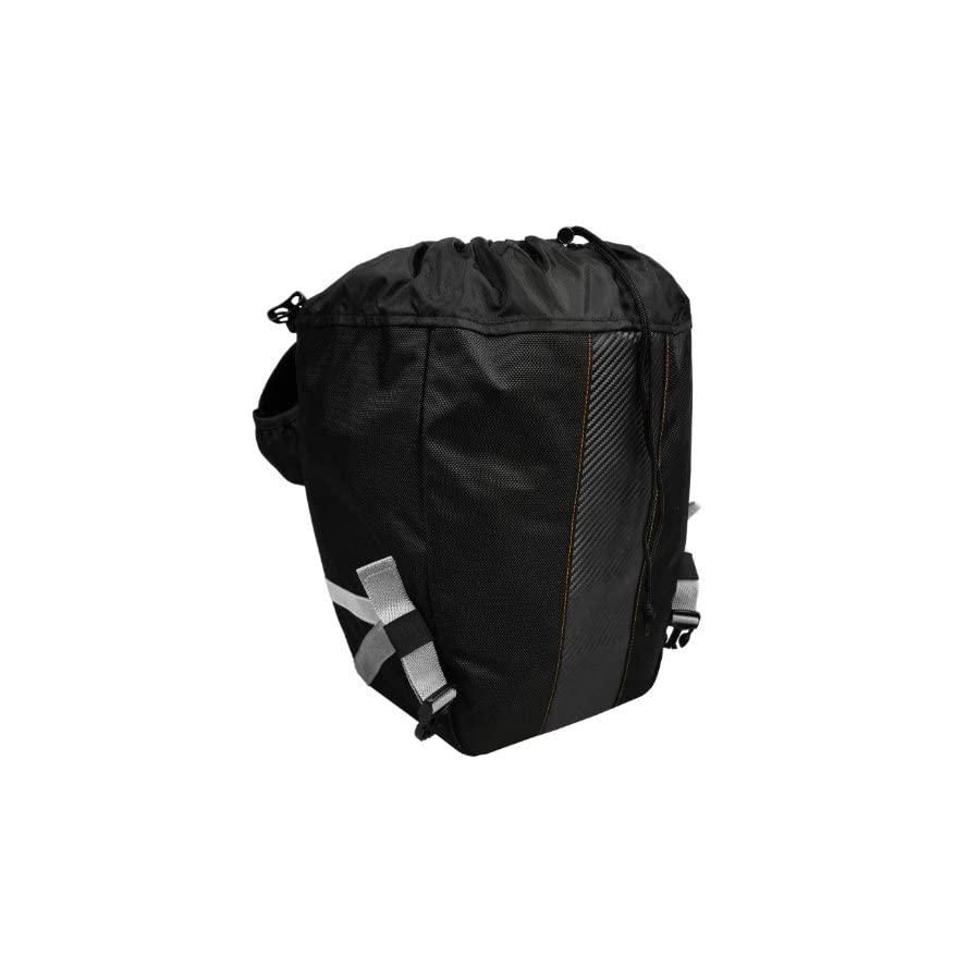 Ibera Bicycle Bag PakRak Clip On Quick Release All Weather Bike Panniers (Pair), Includes Rain Cover