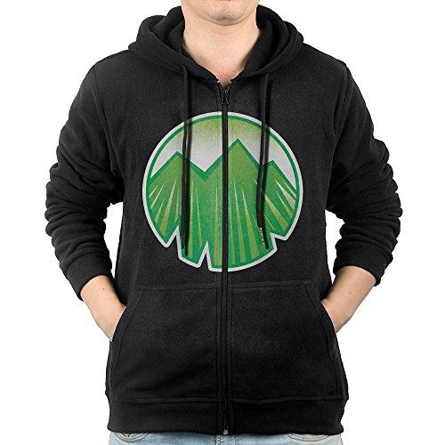 Element Icon Earth Mens Hooded Sweater Pocket Zipper Hooded Sweatshirt Full Zip Hoodie With Pocket Size XL Black