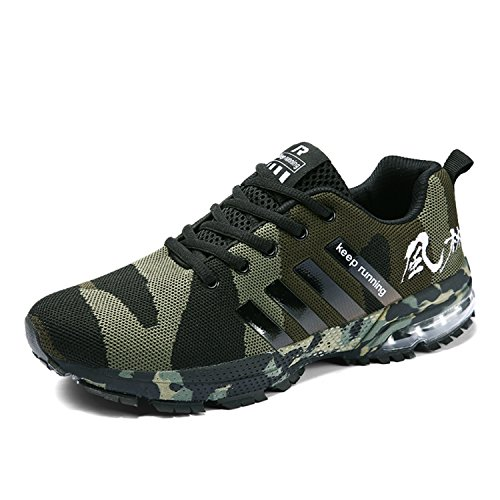 Topteck Mens Air Cushion Running Shoes Women Lightweight Sports Sneakers Athletic Outdoor Walking Tennis by Topteck