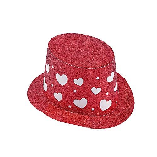 Valentine's Day Glitter Top Hats ()