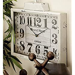 Deco 79 Metal Wall Clock, 16 by 15