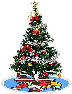 kikomia - Falda para árbol de Navidad (Felpa Corta), Color Azul ...