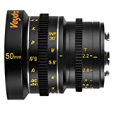 Veydra V1-50T22M43I Mini Prime 50mm T2.2 Imperial Cinema Lens with Manual Focus, Black