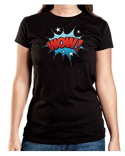 Wow Comic T-Shirt Girls Black Certified Freak
