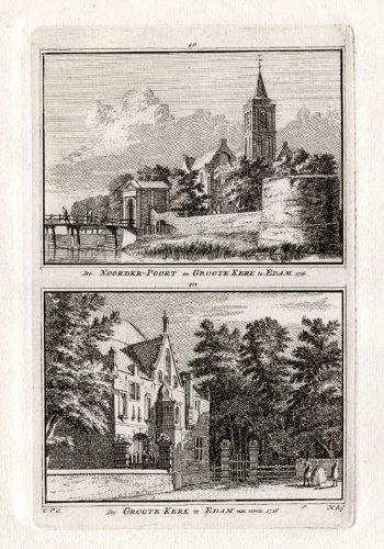 Antique Print-EDAM-CHURCH-NETHERLANDS-Spilman-1743